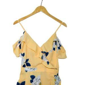 Yellow & Blue Floral Jumpsuit